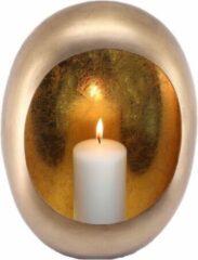 Daan kromhout Kandelaar Standing Egg - Marrakech T-light - Goud - 26 x 11 x 33cm