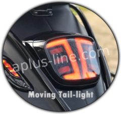 APLUS ACHTERLICHT LED/TUBE PASSEND OP VESPA SPRINT / PRIMAVERA E4 - SMOKE 'MOVING'