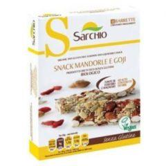 Sarchio Snack Mandorle e Goji Biologico Senza Glutine 80 g