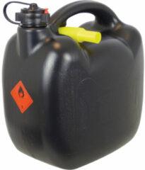 Zwarte Carpoint jerrycan met flexibele vulslang 10 liter kunststof zwart