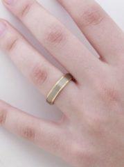 Zilveren Boccia Titanium Ring bicolor