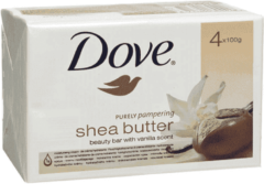 Dove Zeep purely pampering sheabutter 4pack 100gr