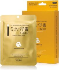 Witte Mitomo Japan Mitomo™ Gold & Bee Venom Gezichtsmasker - Anti Aging Face Mask - Gezichtsverzorging Masker