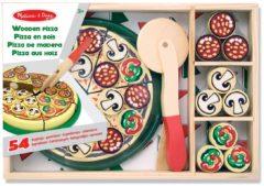Melissa & Dough Voedsel Pizza 54-Delig Hout