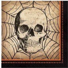 Witbaard Servetten Spooky Symbols 33 Cm Papier Beige 16 Stuks