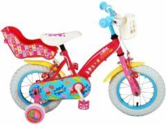 Nickelodeon Peppa Pig Meisjesfiets 12 Inch 21,5 Cm Meisjes Knijprem Roze