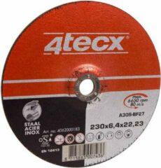 4Tecx Afbraamschijf 115x6,4 Vlak Staal