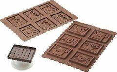 Bruine Silikomart Halloween chocolade koekjes set