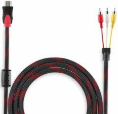 Zwarte MMOBIEL HDMI naar RCA Kabel (1,5 meter) - Vergulde Connectoren - 1080p - Full HD