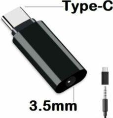 Best 3.5mm Jack Koptelefoon Kabel naar Type-C USB C naar 3.5 Mm AUX Hoofdtelefoon Adapter voor Huawei Mate 20 lite P20 Pro Htc voor Xiao mi mi zwart