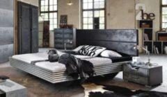 Rauch-SELECT Bett 140 x 200 cm silber/ schwarz RAUCH SELECT Workbase