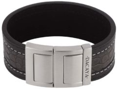 Grijze Dacaya armband Croco Grey Black 28mm F116428