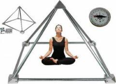 Bruine Yogi & Yogini Meditatie Piramide bouwpakket zonder buizen aluminium - Aluminium