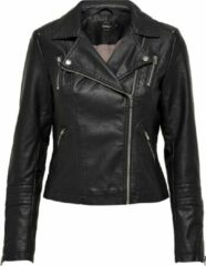 Zwarte Only ONLGEMMA FAUX LEATHER BIKER OTW NOOS