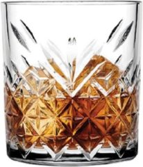 Pasabahce Timeless - Zwarte Whiskyglas - Set van 4 - 345 ml