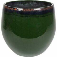 Donkergroene Ter Steege Pot Charlotte groen bloempot binnen 33 cm