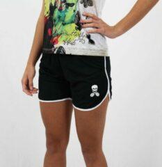 Zwarte Bones Sportswear Dames Short Black White maat S