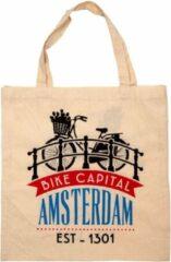 Creme witte Matix Tas Katoen Amsterdam Bike Capital - Souvenir