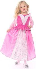 Roze Little Adventures Doornroosje jurk - maat 128/140