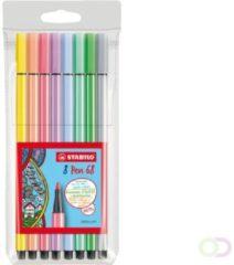 Stabilo Point 88 8er Medium Multi kleuren 8stuk(s) viltstift