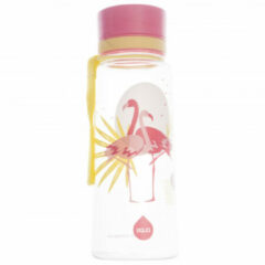 Equa - Kid's Favorites - Drinkfles maat 600 ml, wit/roze/beige