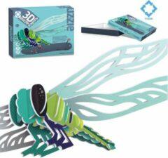 FDBW Puzzel kinderen 3 jaar – Insecten | 3D puzzel insecten | Kinderpuzzels 3 jaar | Puzzel kinderen dieren – Puzzel 3D - Libelle