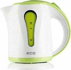 Electro Center RK1022GN Waterkoker, 1 liter, wit - groen kunststof