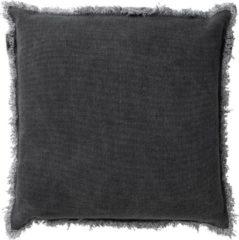 Antraciet-grijze Dutch Decor Kussenhoes Burto 60x60 cm Charcoal Gray