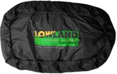 Zwarte LOWLAND OUTDOOR® Raincover Flightbag - Waterdicht PU-Oxford Nylon <lt/>85 Liter - 304gr - Black