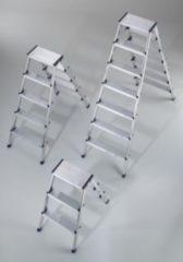 Hailo L90 Alu-Sicherheits-Doppelstufenleiter - 2 x 5 Stufen