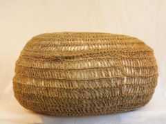 Beige Nusa Originals - Poef Canggu - Handgemaakt & Fairtrade - Bohemien Stijl - 60x30cm