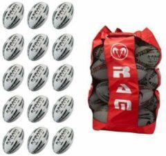 RAM Rugtby Match Rugbybal bundel - Met ballentas - 15 stuks Balmaat 4 Geel