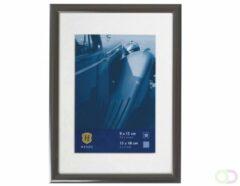 Antraciet-grijze Henzo - Fotolijst - Portofino - Fotomaat 10x15 cm - Donker Grijs