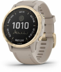 Garmin 010-02409-11 Fenix 6S Pro Solar Smartwatch light Gold 42 mm