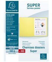 Exacompta SUPER 160 - Pak van 100 dossiermappen 160g/m²- 24x32 cm voor A4. (340004E)