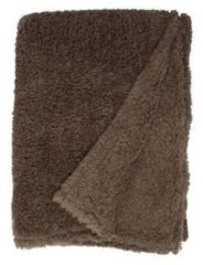 Unique Living Teddy fleece plaid - 100% polyester, Fleece polyester - 150x200 cm - Taupe