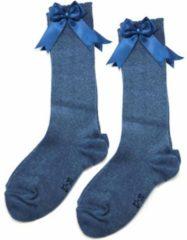 IN Control, kniesokken met satijnen STRIK, 876-2 jeans 23/26