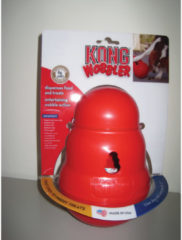 Kong Snack Dispenser Wobbler - Kauwspeelgoed - 190mm x 130mm x 122mm - Rood