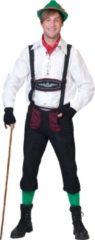 Beige Funny Fashion Boeren Tirol & Oktoberfest Kostuum | Munchen Alpine Hemd Man | Maat 52-54 | Bierfeest | Verkleedkleding