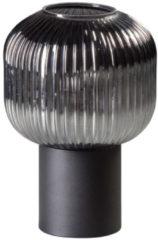 Zwarte ETH Expo ETH tafellamp Ray smoke ribbel glas