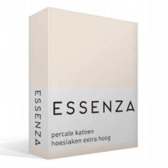 Essenza Premium percale katoen hoeslaken extra hoog - 100% percale katoen - 1-persoons (90x210 cm) - Ivoor, Oyster