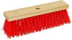 Rode Raltec Reinigingsbezem / gemeentebezem kunstvezel 40 cm