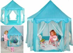 XL Kinder Speeltent - Jongens & Meisjes - Speelgoed Ridder / Prinses Play Tent Kindertent - Blauw