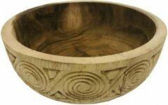 Bruine Damn Bowl teak hout