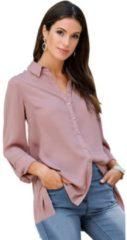 Roze Classic Inspirationen blouse met lange mouwen