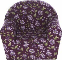 Paarse Peuterstoeltje.nl Peuterstoeltje-Kinderfauteuil Flowers Purple