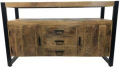 Onderkast Boss & Wessing Mango Wood 135x45x90 cm Met Mat Zwart Metaal