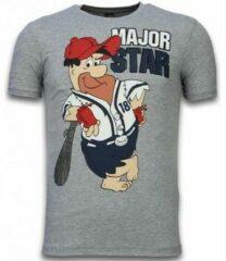Grijze T-shirt Korte Mouw Local Fanatic - Masch. Major Star - T-shirt