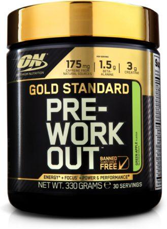 Afbeelding van Optimum Nutrition Gold Standard Pre-Workout - 300 gram (30 servings) - groen Apple