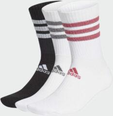 Roze Adidas Glam 3-Stripes Gevoerde Sportsokken 3 Paar